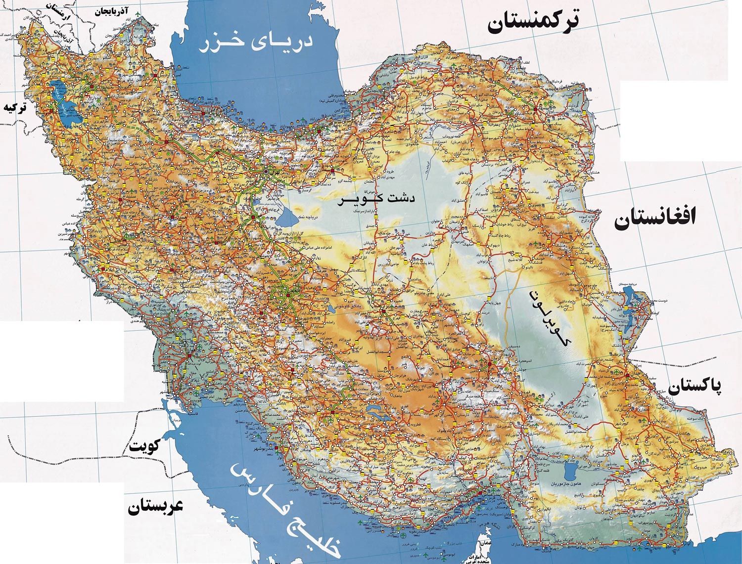 Iran map iran travel information