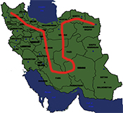 thumb map Iran photography tour